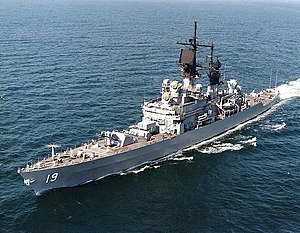 Uss Dale underway, circa the 1980s or early 1990s