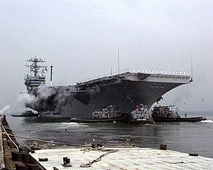 Okmulgee (YTB-765) - Image: USS Dwight D. Eisenhower (CVN 69) RF