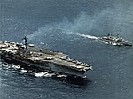 USS Forrestal (CVA-59) and USS Perry (DD-844) underway in 1967.jpg