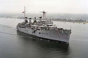 USS Jason AR-8 off SanDiego 1991