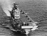 USS Nassau (LHA-4) underway at sea, circa in 1979 (NH 107657).jpg