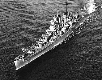 USS Toledo (CA-133) - Image: USS Toledo (CA 133) underway off Korea on 6 September 1951 (NH 96901)