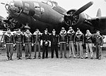 US Fortress 'bearded Beauty' Force-lands at Royal Naval Air Station, Yeovilton. 22 January 1943 A13992.jpg