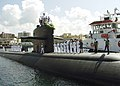 US Navy 020927-N-4965R-001 The Los Angeles-class submarine City of Corpus Christi (SSN 705) arrives in Pearl Harbor for a port visit on the way to her new homeport in Guam.jpg