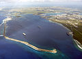US Navy 030225-N-0000X-002 An aerial view of Apra Harbor on U.S. Naval Base Guam is seen during a fly-by, Feb. 25, 2003.jpg