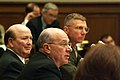 US Navy 030226-N-2383B-591 Adm. Vern Clark, Chief of Naval Operations (CNO), Honorable Hansford T. Johnson, Acting Secretary of the Navy and Gen. Michael W. Hagee, Commandant of the Marine Corps appear before the House Armed Se.jpg