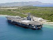 US Navy 030527-N-0000X-001 The aircraft carrier USS Carl Vinson (CVN 70) pier side in Apra Harbor, Guam