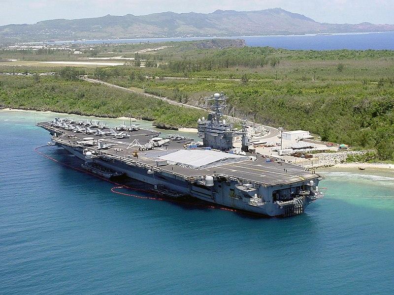 US Navy 030527-N-0000X-001 The aircraft carrier USS Carl Vinson (CVN 70) pier side in Apra Harbor, Guam.jpg