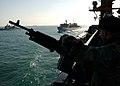 US Navy 041204-N-5345W-071 Marine Sgt. Joe Bartolomey mans a M-240G machine gun.jpg