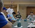 US Navy 100327-N-2389S-072 Chief Petty Officer J. C. Waters, assigned to USS Ford (FFG 54), meets with retired service members at the Veterans Affairs Hospital in Phoenix, Ariz.jpg