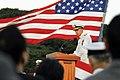 US Navy 100910-N-4031K-606 Vice Adm. Scott R. Van Buskirk, commander of U.S. 7th Fleet, delivers remarks during a change of command ceremony.jpg