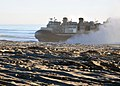US Navy 101213-N-1722W-670 A landing craft air cushion (LCAC), assigned to Assault Craft Unit (ACU) 5, embarked aboard the amphibious assault ship.jpg