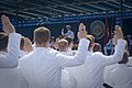 US Navy 110527-N-ZB612-109 Chief of Naval Operations (CNO) Adm. Gary Roughead administers the oath of office during the U.S. Naval Academy Class of.jpg