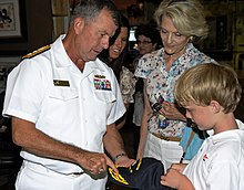 Towers during a visit to the set of the television show General Hospital as part of Los Angeles Navy Week 2011.