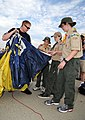 US Navy 111015-N-OU681-224 Special Warfare Operator 1st Class (SEAL) Isaiah Maring, assigned to the U.S. Navy parachute demonstration team, the Lea.jpg
