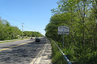 U.S. Route 6 in Massachusetts - Looking southbound entering Eastham