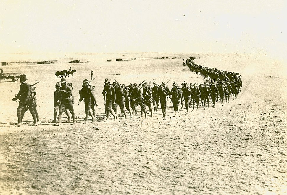 US infantry on the march in NM, 1916 army.mil-2008-03-28-083637