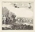 Uittocht van het Spaanse leger uit Maastricht, 1632 (plaat 6) Het Spaansche garnizoen verlaat Maastricht, 1632 (serietitel) Discessus Hispanici Praesidii Trajecti ad Mosam Ao. 1632. Die 23 Augusti (serietitel), RP-P-1898-A-20240.jpg