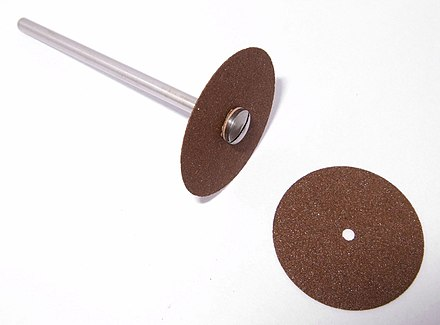Cutting disks made of silicon carbide Ultra-thin separated (Carborundum) disk.jpg