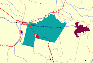 Umatilla Indian Reservation - Map of the Umatilla Indian Reservation, east of Pendleton