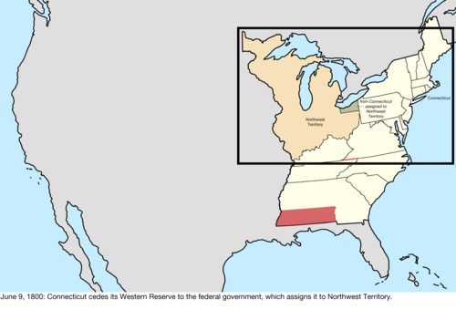 Connecticut Ceded Its Western Reserve To The Federal Government Which Assigned It To Northwest Territory The Act Doing So Was Passed In Congress On