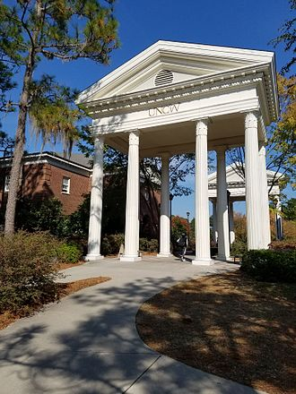 University of North Carolina at Wilmington - Arches next to Leutze Hall on the campus of UNCW
