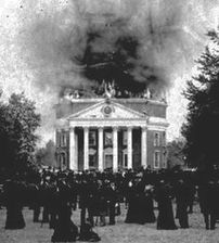 Burning of The Rotunda, University of Virginia.