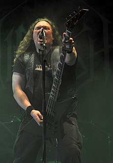 Unleashed, Johnny Hedlund at Party.San Metal Open Air 2013 03.jpg