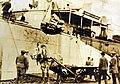 Unloading supplies from USS Ascutney, Archangel, Russia, Russian Intervention, 1918-1920 (28037194935).jpg
