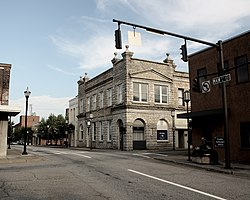 Martinsville's uptown district.