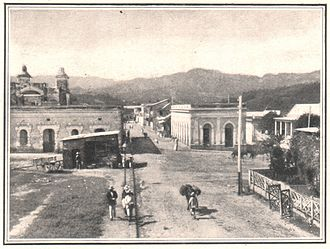 """Utuado, Puerto Rico - """"Utuado Street Scene"""" from Harper's Weekly May 13, 1899"""
