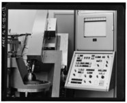 VIEW OF SHEFFIELD GAGE, USED TO MEASURE ROUNDNESS OF WEAPON PARTS, AS PART OF THE FINAL PARTS INSPECTION PROCESS. (6-2-67) - Rocky Flats Plant, Non-Nuclear Production HAER COLO,30-GOLD.V,1L-13.tif