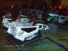 Un simulateur de Formule 1.
