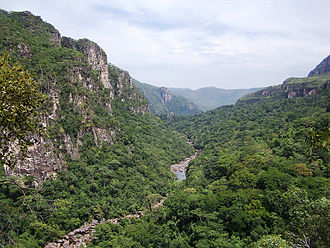 Goiás - The Black River running through the Chapada dos Veadeiros National Park