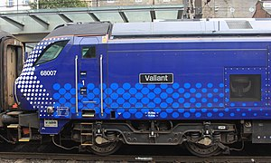 British Rail Class 68 - 68007 Valiant in ScotRail livery.