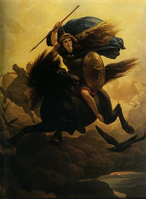 Peter Nicolai Arbo - Valkyrie  (1864 version)