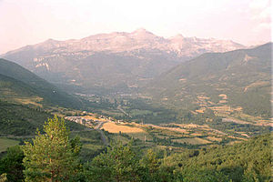 Aragón (river) - Aragón river valley in the Huesca province