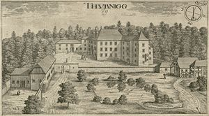 Ig Castle - Ig Castle as depicted in 1679 Johann Weikhard von Valvasor