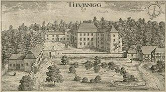 Ig Castle - Ig Castle as depicted in 1679 Johann Weikhard von Valvasor