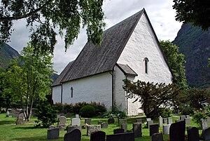 Vangen Church (Aurland) - Image: Vangen kirke, Aurland, exterior, July 2009 4