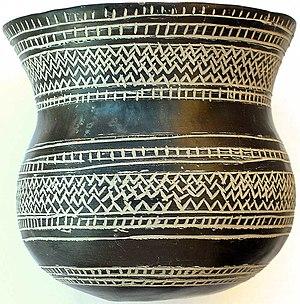 Valdemoro - A Bell Beaker vase from Ciempozuelos, Museo Arqueológico Nacional, Madrid.