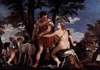 Venus and Adonis (Veronese, Augsburg) - Image: Veronese, Paolo Venus and Adonis c. 1562