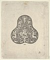 Vertical Panel with a Pear Shaped Design with a Mounted Soldier and Centaurs MET DP837167.jpg