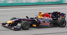 Photo de la Red Bull RB6 de Vettel à Sepang