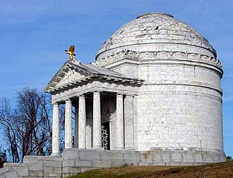 Vicksburg National Military Park - The Illinois State Memorial in Vicksburg National Military Park. The structure was modeled after Rome's Temple of Minerva Medica and the Pantheon. The memorial was dedicated on October 26, 1906.