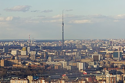 View from Imperia Tower to Ostankino Tower View from Imperia Tower Moscow 04-2014 img04.jpg