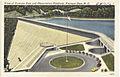 View of Fontana Dam and observation platform, Fontana Dam, N. C. (5811489999).jpg