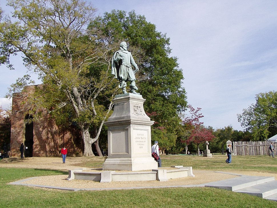 View of James Town Island, Captain John Smith Statue