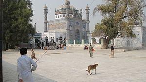 English: A view of Sachal Sarmast Shrine.