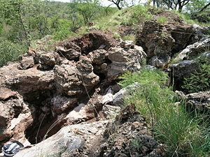 Gondolin Cave - GD 1 deposit region excavated in 2003/2004